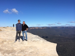 Der Lincoln's Rock in den Blue Mountains