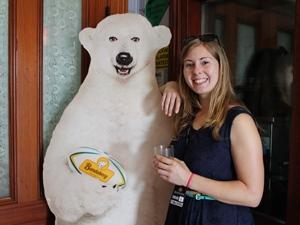 Wahrzeichen des Bundaberg Rums: der Eisbär