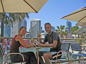 Cafe in Darling Harbour