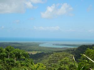 Ausblick Cape Tribulation und Daintree Regenwald