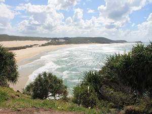 Ausblick vom Indian Head über den Strand in Australien