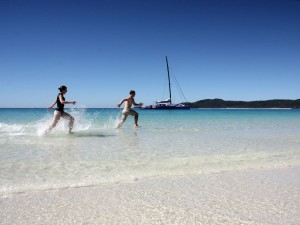 Baden am Whitehaven Beach