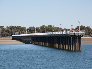 Hervey Bay Pier bei Australien Rundreise