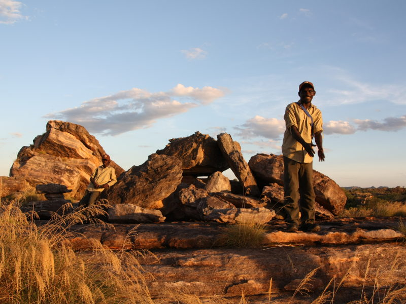 Aborigine Ranger am Ubirr Rock