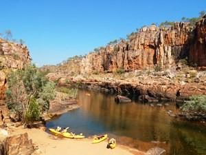 Kanutour durch die Katherine Gorges bei Australien Reise