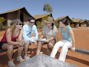 Komfort- Zelte im Outback am Ayers Rock