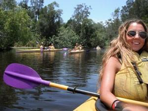 Kanutour Noosa River Nationalpark Australien