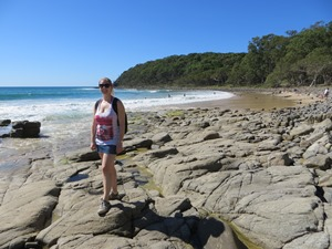 Am Strand des Nationalparks in Noosa