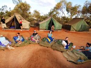 Übernachtung im Swag oder im Zelt