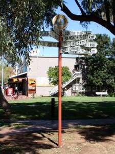 Signpost in Alice Springs