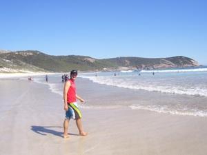 der australische Ninety Mile Beach auf dem Weg von Sydney nach Melbourne