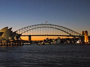 Sydney bei Sonnenuntergang