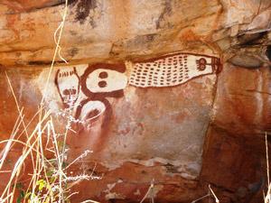 Wandmalerei der Aborigines