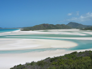 Whitehaven Beach in den Whitsunday Islands
