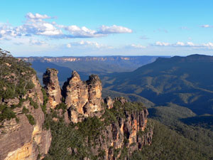 Die Three Sisters der Blue Mountains