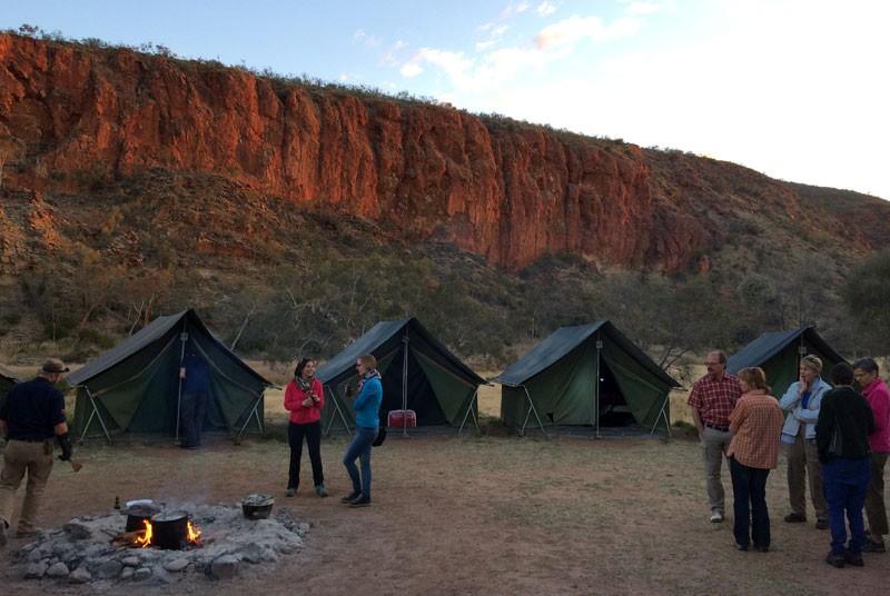 Camping Australien Rundreise mit Kindern Glen Helen