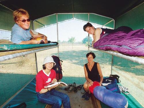 Zelt für bis zu vier Personen