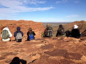 Reisegruppe am Kings Canyon