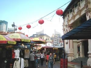 Besuch im Chinatown in Singapur