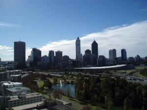 Blick auf die Stadt Perth