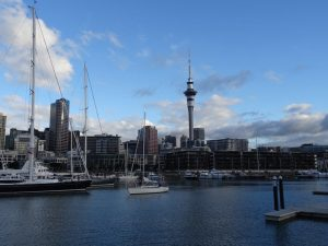 Die Skyline von Auckland - Rundreise Australien Neuseeland