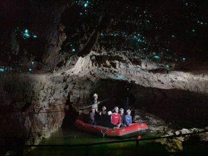 Die Glühwürmchenhöhle in Waitomo - Rundreise Australien Neuseeland