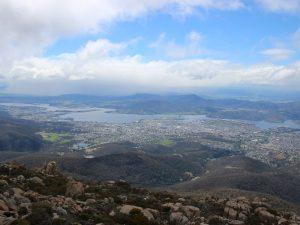 Blick auf Hobart