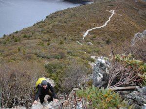 Wandung während der Tasmanien Reise