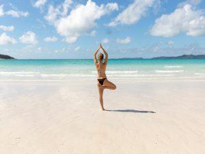 Yoga Strand Australien Ostküste Meer