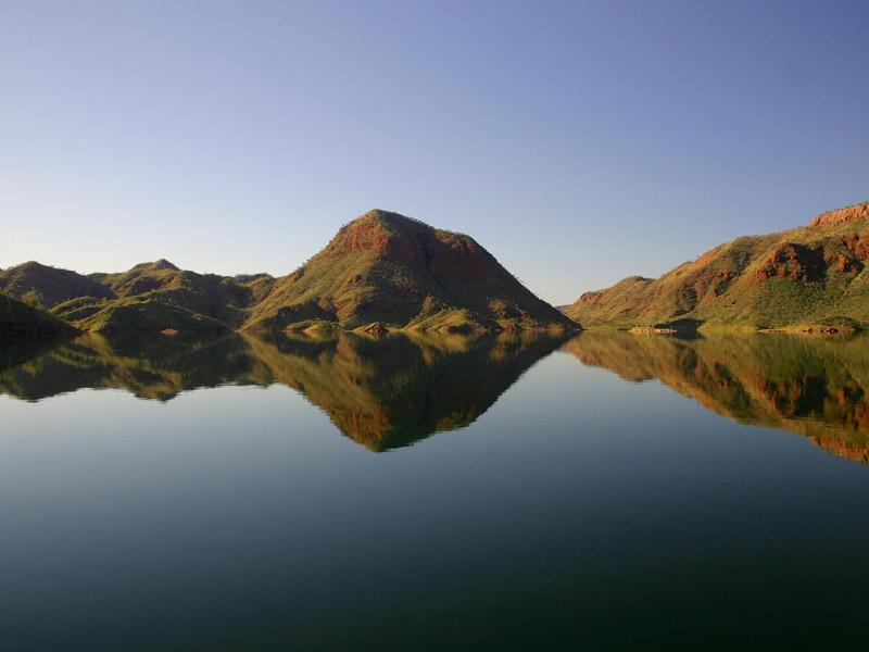 Inseln im Argyle See