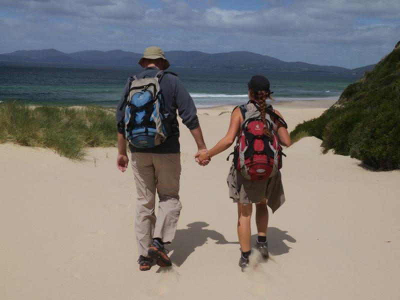 Tasmanien Gurppenreise Strandwanderung Bruny Island