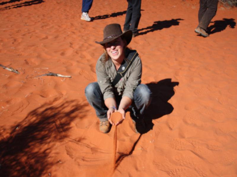 Der einzigartig rote Sand im Outback