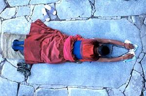 Verblijf Lhasa biddende monnik
