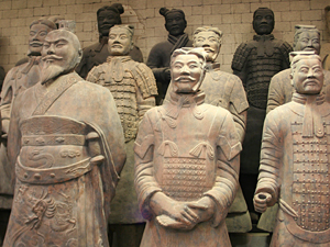 Terracotta leger Xi'an China kleisoldaten