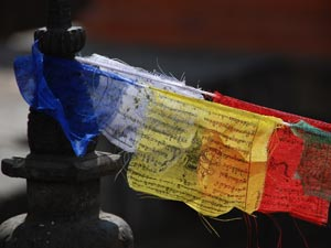 trekking Kathmandu vallei - vlaggen