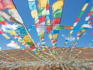 Gebedsvlaggen Tibet