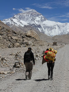 tibet hike everest basecamp