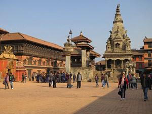 nepal tibet bhaktapur straatbeeld