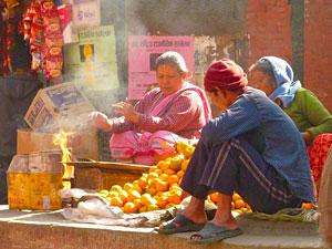 tibet nepal straatbeeld