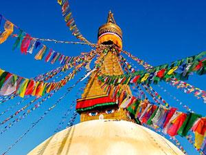 tibet nepal kathmandu vlaggentempel