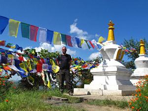 tibet nepal stupa vallei trekking