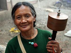 tibet tibetaanse vrouw