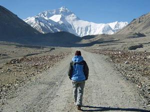 klimaat Tibet zonnige everest