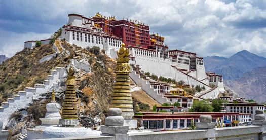 Tibet rondreis - klooster in Lhasa
