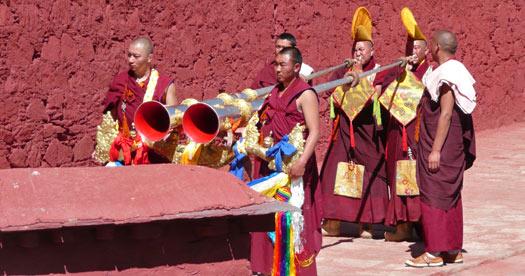 Ceremonie tijdens je Tibet reis