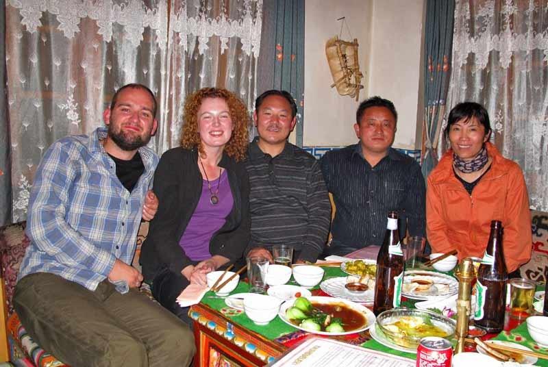Eten bij een Tibetaanse familie