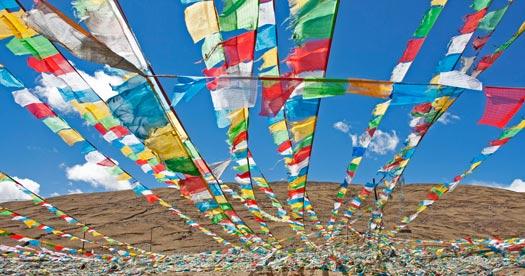 Rondreis Tibet - gebedsvlaggen