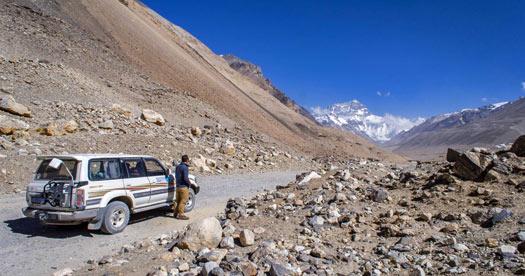 Onderweg per jeep in Tibet