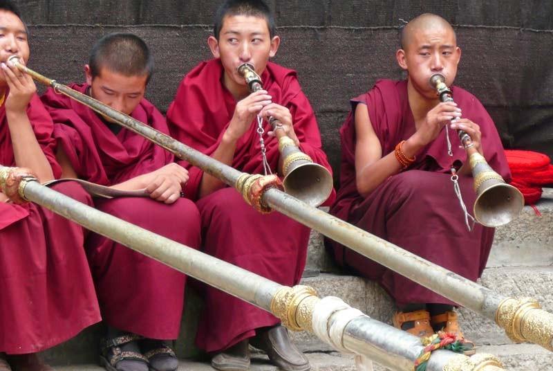 Vakantie Tibet - monniken
