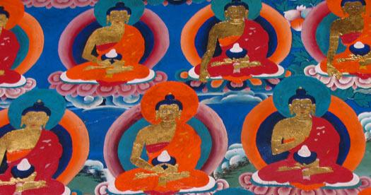 Schildering in klooster - Tibet rondreis